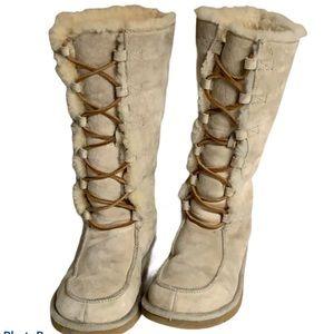 Women's Ugg Uptown II Mocha Lace Uo Boots Sz 7